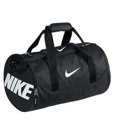 Buy Nike Team Training Mini Duffle Bag, Black/White from our Kit & Duffel Bags range at John Lewis & Partners. Nike Duffle Bag, Duffel Bag, Nike Bags, Gym Bags, Medium Bags, New Bag, Gym Wear, Fashion Bags, Nike Air Max