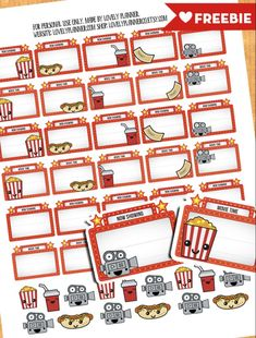 Lovely Planner - Page 8 of 13 - Free printables : party printables, planner stickers, lettering, DIY and more!