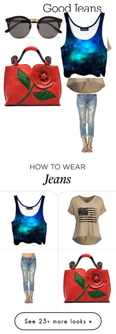 """""""Earth Good Jeans"""" by mynewswag2017 on Polyvore featuring Illesteva"""