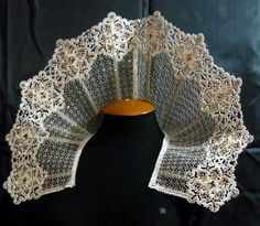 Advanced Embroidery Designs - FSL Battenberg Lace Snowflake Collar, needs 12 inch hoop. Gorgeous for historic costumes.