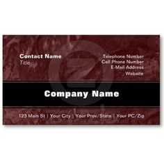 Tinted Wrinkled Texture Business Card Template