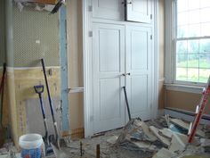 This second-floor bathroom in the original part of the house is being removed. #historichomerehab #WashPA wccf.net