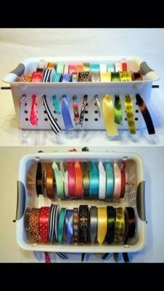 Great idea for organized ribbons