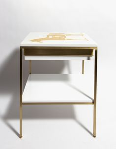 Luxury white and gold side table sidetabledesign whiteandgold