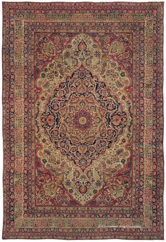 LAVER KIRMAN, Southeast Persian 11ft 0in x 16ft 0in Late 19th Century http://www.claremontrug.com/