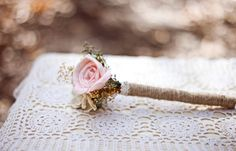Flower Girl Flower Wand -Pink and Mint Collection, Mini Bouquet, Toss Bouquet, Junior Bridesmaid, Sola Flowers, Rustic Wedding