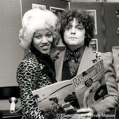 Marc Bolan with his wife Gloria Jones