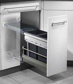Hailo Solo Küchen-Abfalleimer, Plastik, Grau, One Size Tandem, Little Houses, French Door Refrigerator, Luxury Lifestyle, Kos, Kitchen Design, Kitchen Ideas, Locker Storage, Kitchen Appliances