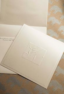 metallic embossed wedding invitation