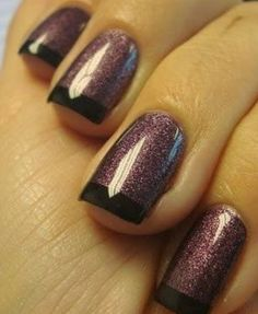 Alternative french manicure. Get the Look at Polished Nail Bar www.Facebook.com/NailBarPolished #Milwaukee #Brookfield