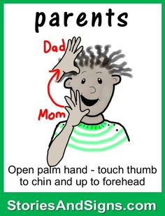 Learn to sign the word. C's books are fun stories for kids that… Sign Language Chart, Sign Language Phrases, Sign Language Interpreter, Sign Language Alphabet, Learn Sign Language, Deaf Language, Language Lessons, Fun Stories, Stories For Kids