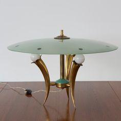 1950s Italian Glass Table Lamp