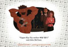 Pixar Artist Josh Cooley Reimagines R-Rated Movies as Children's Book Art Pixar, Cinema, Cosplay, Fan Art, Little Golden Books, Die Hard, Cultura Pop, Horror Art, Christmas Movies