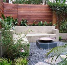 Contemporary garden seating area landscape design 58 Ideas for 2019 Backyard Seating, Outdoor Seating Areas, Corner Seating, Outdoor Spaces, Outdoor Benches, Backyard Patio, Garden Seating Areas, Outdoor Sofa, Built In Garden Seating