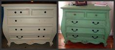 Before Meets After: green dresser