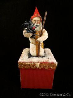 Reproduction German Style Spun Cotton Santa by EbenezerandCompany