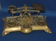 An-ornate-brass-set-of-Victorian-gothic-postal 1