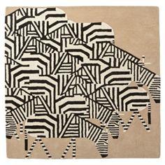 Charley Harper Zebra Rug