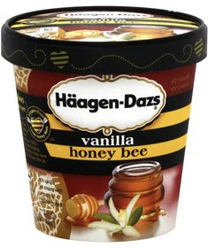 Ice Cream Flavors, Vanilla Ice Cream, Candy Cookies, Ben And Jerrys Ice Cream, Coffee Cans, Sandwiches, Bee, Snacks, Drinks