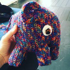 Crochet elefant hækle