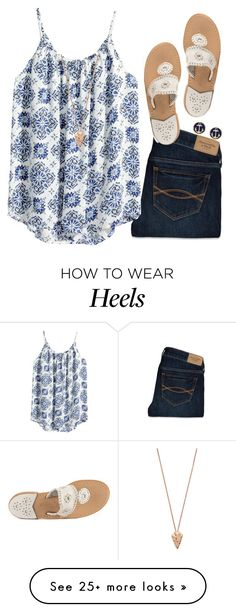 """""""Read D!"""" by gourney on Polyvore featuring Abercrombie & Fitch, Jack Rogers, H&M, Brooks Brothers and Pamela Love"""