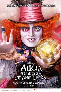 Directed by James Bobin. With Mia Wasikowska, Johnny Depp, Helena Bonham Carter, Anne Hathaway. Alice returns to the whimsical world of Wonderland and travels back in time to help the Mad Hatter. Mia Wasikowska, Johnny Depp, Anne Hathaway, Mad Hatter Disney, Film 2016, Film Tim Burton, Chesire Cat, Kino Film, Helena Bonham Carter
