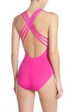 La Blanca Cross Back One-Piece Swimsuit available at #Nordstrom