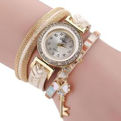 Duoya Brand Quartz Watches New Watches Women The Sleek Stylish And Chic Knit Bracelet Watch Ladies Decorative Wristwatch Jan05