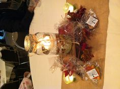Centerpieces for Fall-themed family reunion