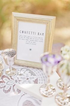"""#Confetti Bar - Wedding guests were invited to fill a cone with flowers and seeds for the """"toss"""" 