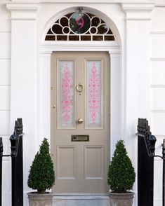 """""""Pretty front door window film panels from make curb appeal easy peasy."""" - Explore more window films and glass coverings on our website Window Stickers, Wall Stickers, Front Doors With Windows, Window Privacy, Window Films, Best Windows, House Numbers, Easy Peasy, Glass Door"""