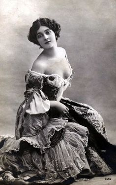 """Lina Cavalieri (1874 - 1944) was an Italian opera singer known as the """"world's most beautiful woman."""" Orphaned at the age of 15, she went to Paris where she took voice lessons, and made her opera debut in 1900. She married four times. After retiring from opera, Cavalieri ran a cosmetic salon in Paris, published a book, made motion pictures, and worked as a WWII volunteer nurse. She and her forth husband were killed during an Allied bombing raid in 1944."""