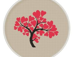 Love tree Сross stitch pattern Instant von MagicCrossStitch auf Etsy