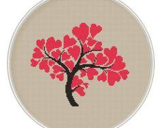 Love tree Сross stitch pattern Instant von MagicCrossStitch auf Etsy
