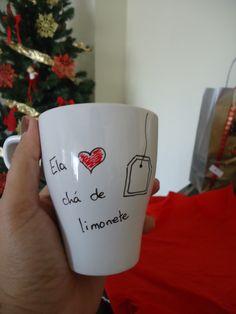 Ela ♡ chá de limonete 1 Caneca Cheia de Amor! ♡♡♡