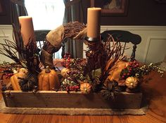Ready for Fall. ❤️ Ready for Fall. Thanksgiving Decorations, Seasonal Decor, Fall Decorations, Thanksgiving Ideas, Holiday Ideas, Fall Table Centerpieces, Centerpiece Ideas, Autumn Display, Fall Displays