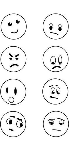 Simple Faces Showing Moods