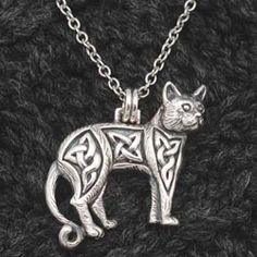 Celtic Cat Pendant