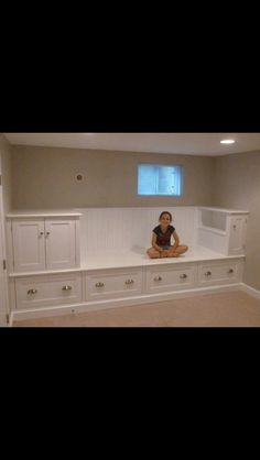 Free up space in her bedroom, cute idea