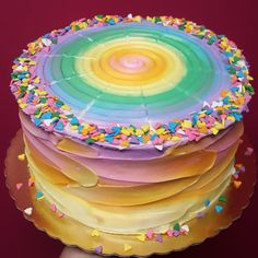 Bright buttercream rainbow for the end of pride month! #baking #cooking #food #recipes #cake #desserts #win #cookies #recipe #cakes #cupcakes
