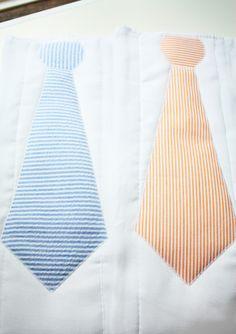 Seersucker Tie Burp Clothes