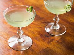 Equal parts gin, chartreuse, maraschino liqueur, and fresh lime juice, this is an old-fashioned cocktail that feels awfully modern.