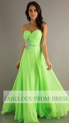 LIME GREEN PROM DRESS-- My boyfriends favorite color!! he would love this!! PROM 2014!!!!