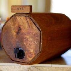 Barrel to hold my boxed wine...super cool!   coldcreekbrewing on etsy
