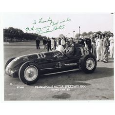 Duane Carter competed in eleven Indy 500 races including eight races during the F1 era.  In 1953 his car #4 was retired halfway through the race. He later relieved Sam Hanks in car #3 and finished in third place.  In 1954 he once again earned World Championship points as a relief driver.  Carter relieved Troy Ruttman for the final 70 laps and drove the car #34 to fourth place.  Carter also earned a solo fourth place in 1952.