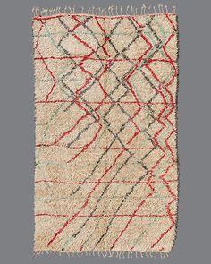 Vintage Moroccan Aït Bou Ichaouen Wool Rug, TS26, circa 1970s-1980s