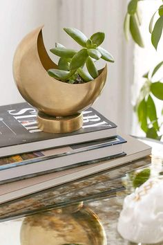 Urban Outfitters Half Moon Planter