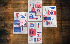 Set of 4 Martin Prints