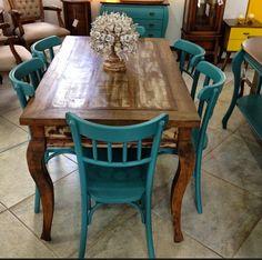 Refurbished Furniture, Furniture Makeover, Painted Furniture, Dinning Room Sets, Dining Table, Casa Mix, Living Room Sofa Design, Home Tools, Decoration