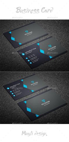 Business Card Template - Corporate #Business #Cards Download here: https://graphicriver.net/item/business-card-template/20439629?ref=alena994